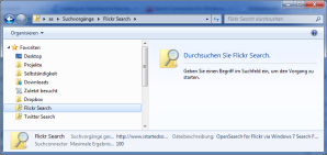 Open Search im Windows Explorer