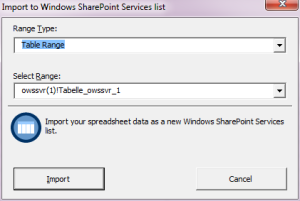 Import-Dialog in Excel
