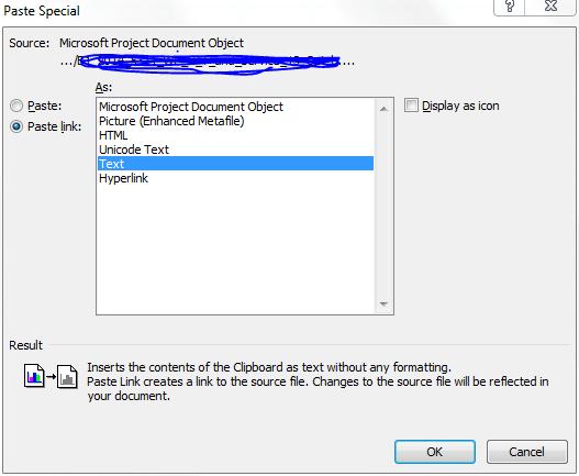 Einfügen als Link in Excel