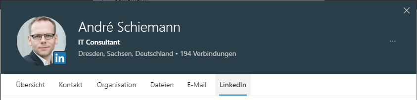 Office 365: LinkedIn Integration inNutzerprofilen